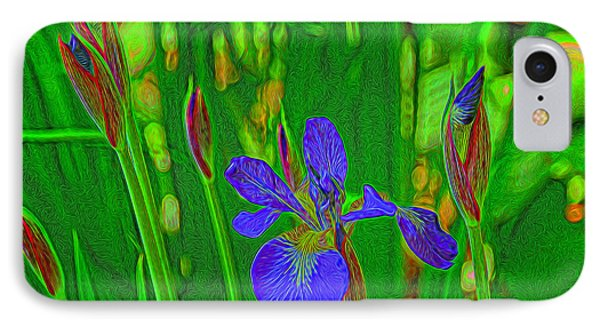 IPhone Case featuring the photograph First Iris To Bloom by Dennis Lundell