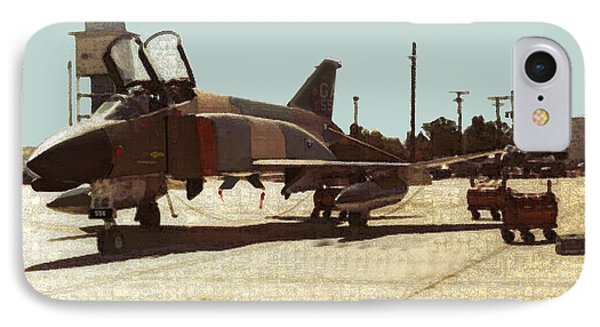 IPhone Case featuring the digital art First Jet by Walter Chamberlain