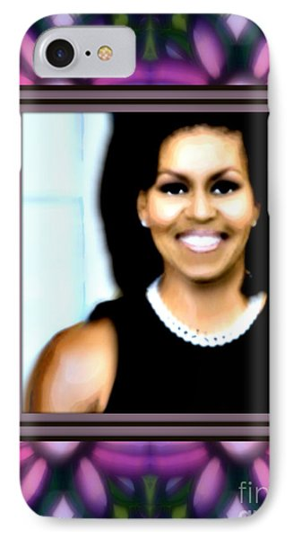 First Lady Michele IPhone Case by Wbk