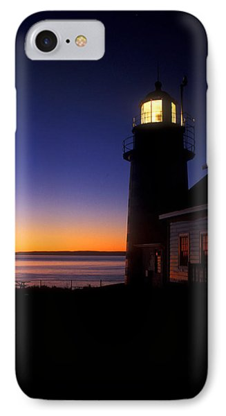 First Light At Quoddy Head IPhone Case by John Burk