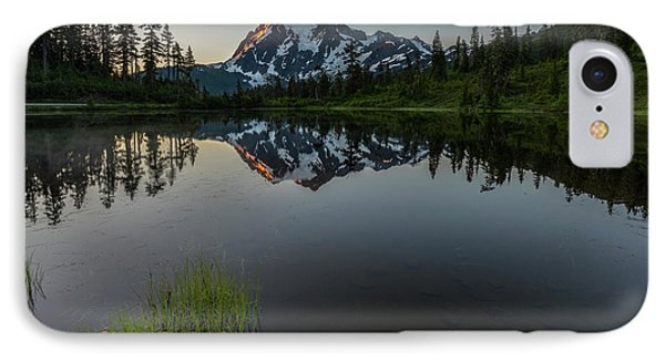 First Light On Picture Lake IPhone Case by Jon Glaser