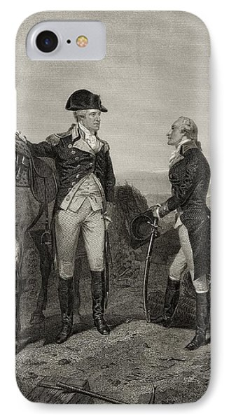 First Meeting Of George Washington 1732 IPhone Case by Vintage Design Pics