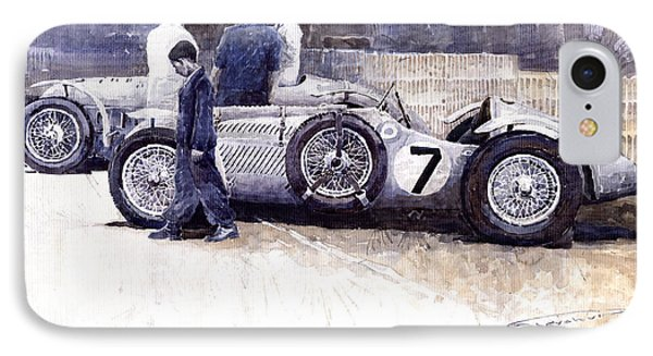 First Met Up Talbot Lago Le Mans 1950 IPhone Case by Yuriy  Shevchuk
