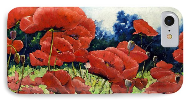 First Of Poppies Phone Case by Richard T Pranke