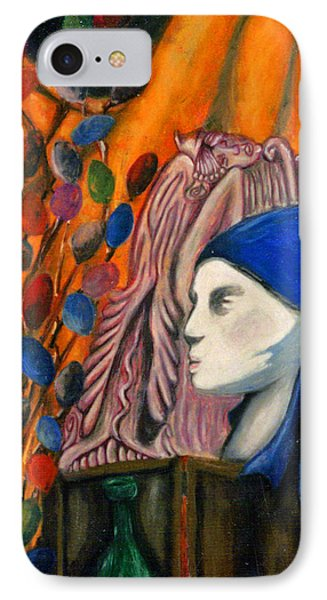 IPhone Case featuring the pastel First Oil Pastel by Jean Haynes