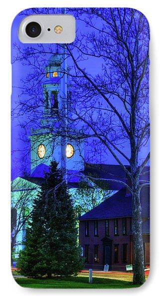 First Parish Church - Concord Ma IPhone Case by Joann Vitali