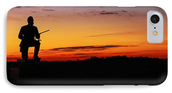 First Pennsylvania Cavalry Sunrise Gettysburg IPhone Case by Randy Steele
