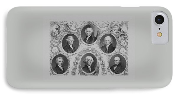 First Six U.s. Presidents IPhone Case by War Is Hell Store