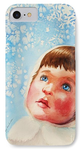First Snowfall IPhone Case by Marilyn Jacobson