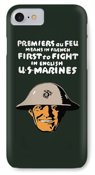 First To Fight - Us Marines IPhone Case by War Is Hell Store