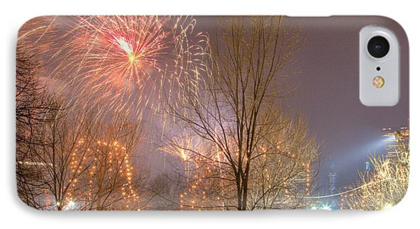 IPhone Case featuring the photograph Firstnight Fireworks by Susan Cole Kelly