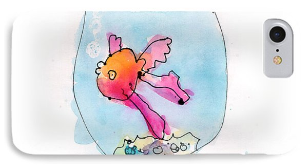Fish IPhone Case by Adeline Longstreth Age Six