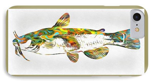 Fish Art Catfish IPhone Case by Dan Sproul