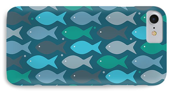 Fish Blue  IPhone Case by Mark Ashkenazi