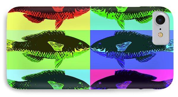 IPhone Case featuring the digital art Fish Dinner Pop Art by Nancy Merkle