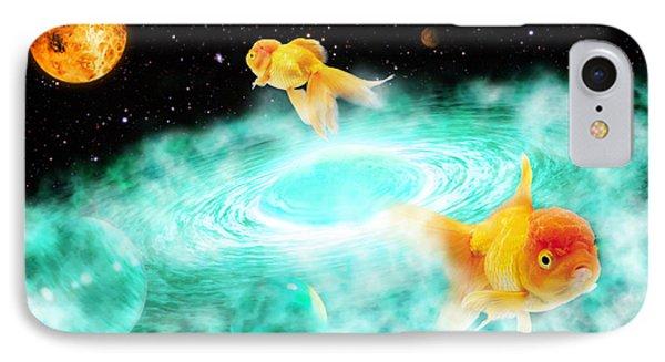 IPhone Case featuring the digital art Zen Fish Dream by Olga Hamilton