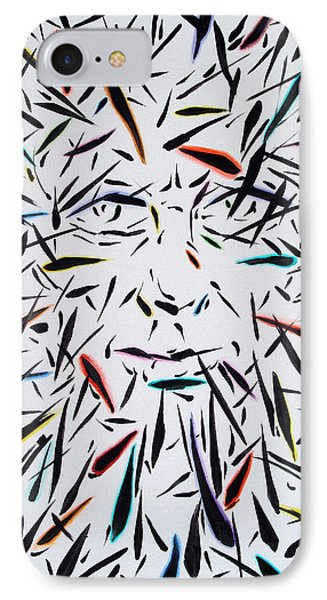 IPhone Case featuring the painting Fish Face Aka Minnow Man by John Norman Stewart