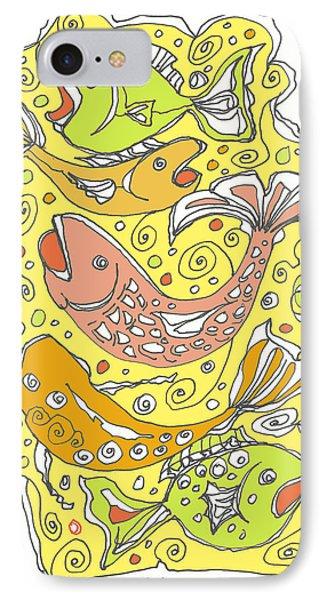 Fish Fish Phone Case by Linda Kay Thomas