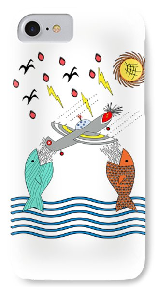Fish Food IPhone Case by Methune Hively
