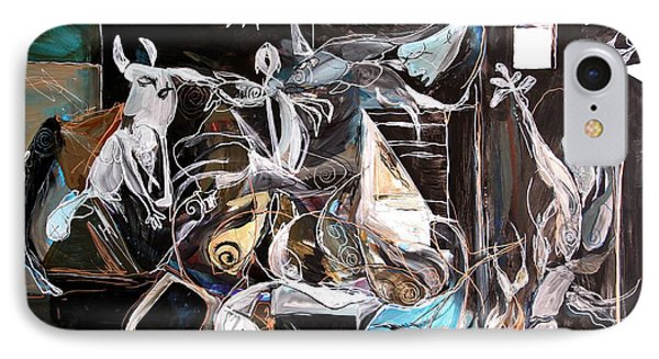 Fish Guernica - Redefining Misery - Homage To Picasso 2017 IPhone Case