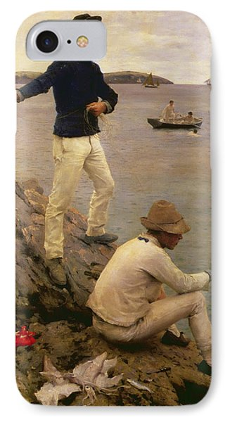 Fisher Boys Falmouth IPhone Case by Henry Scott Tuke