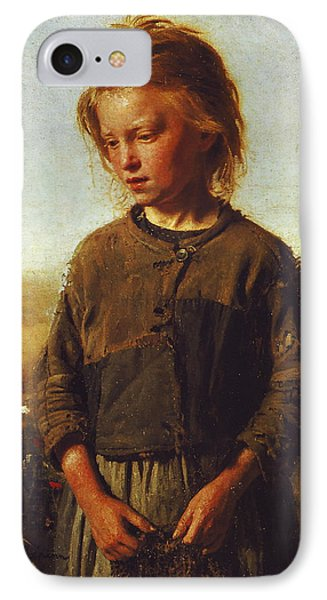 Fisher Girl IPhone Case by Ilya Efimovich Repin