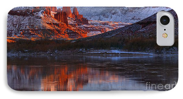 IPhone Case featuring the photograph Fisher Towers And La Sal Mountains by Adam Jewell