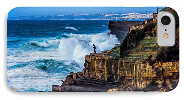 IPhone Case featuring the photograph Fisherman And The Sea by Marion McCristall