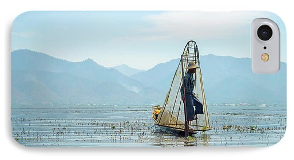 Burmese Python iPhone 7 Case - Fisherman by Delphimages Photo Creations