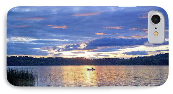Fisherman Heading Home IPhone Case by Keith Boone