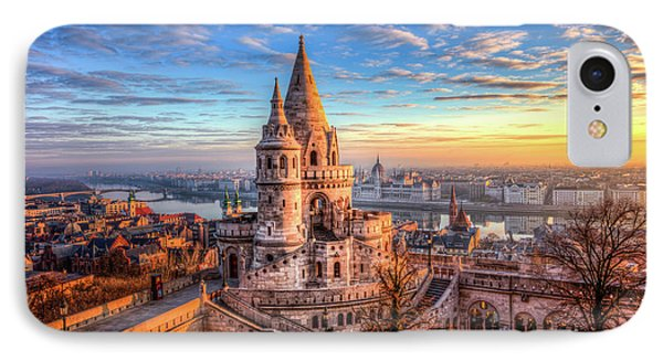 IPhone Case featuring the photograph Fisherman's Bastion In Budapest by Shawn Everhart