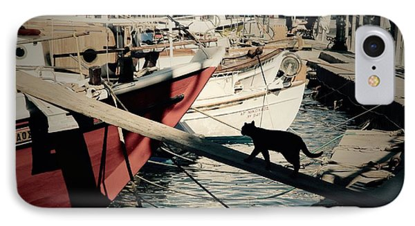 Fisherman's Cat  IPhone Case by Louise Fahy