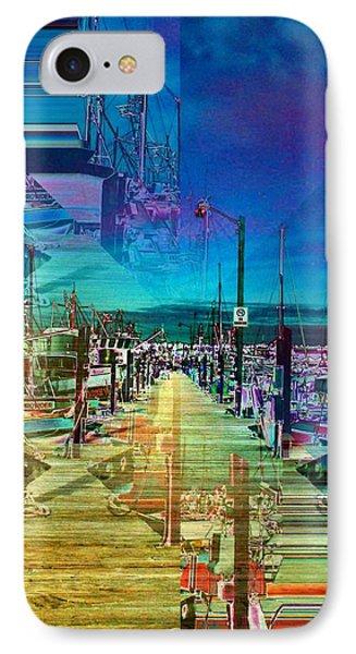 Fishermans Terminal Pier 2 Phone Case by Tim Allen