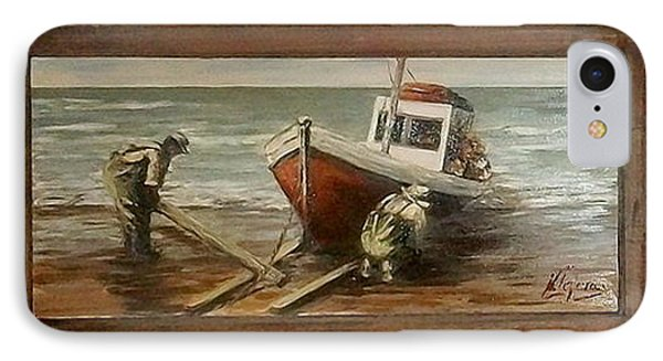 Fishermen S Evening Phone Case by Natalia Tejera