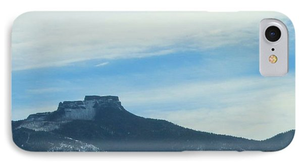 IPhone Case featuring the photograph Fishers Peak Raton Mesa In Snow by Christopher Kirby