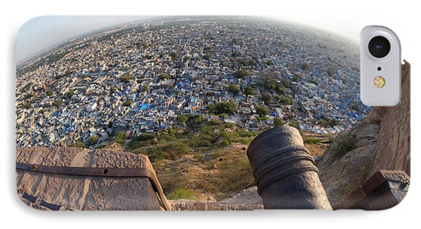 IPhone Case featuring the photograph Fisheye View Of Jodhpur by Yew Kwang