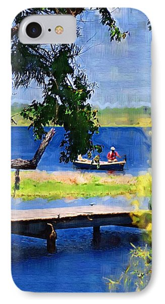 IPhone Case featuring the photograph Fishin by Donna Bentley