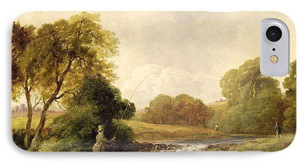 Fishing - Playing A Fish IPhone Case by William E Jones
