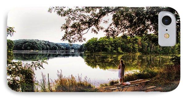 Fishing At Argyle Lake IPhone Case by Thomas Woolworth