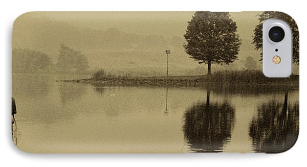 Fishing At Marsh Creek State Park Pa. Phone Case by Jack Paolini