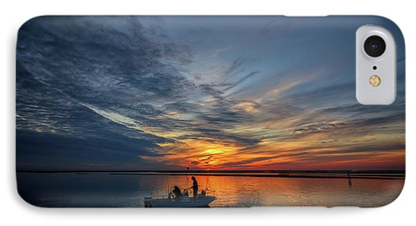 Fishing At Sunset IPhone Case by Rick Berk