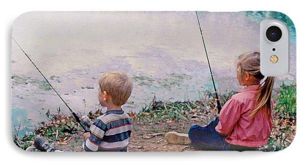 Fishing At Watkins Mill IPhone Case by Steve Karol