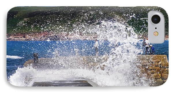 Fishing Beyond The Surf Phone Case by Terri Waters