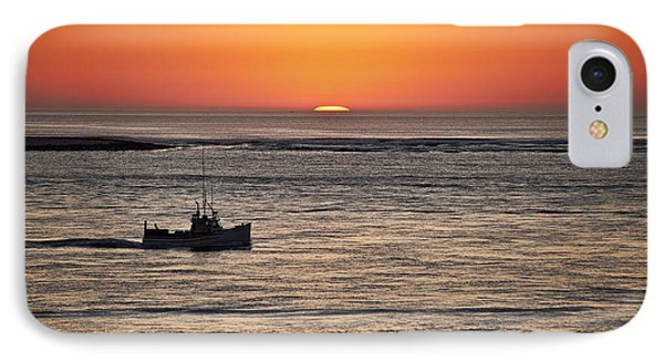 Fishing Boat At Sunrise. IPhone Case