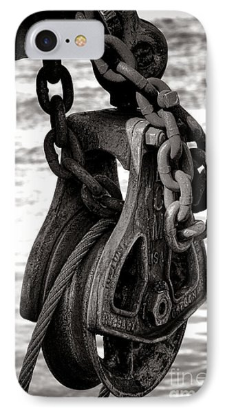 Fishing Boat Pulley IPhone Case by Olivier Le Queinec