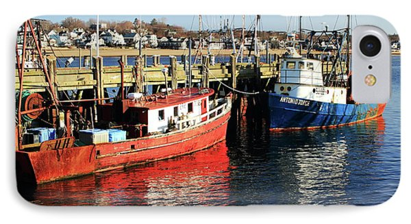 Fishing Boats At Provincetown Wharf IPhone Case by Roupen  Baker