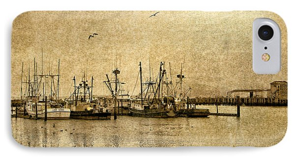 IPhone Case featuring the photograph Fishing Boats Columbia River In Sepia by Susan Parish