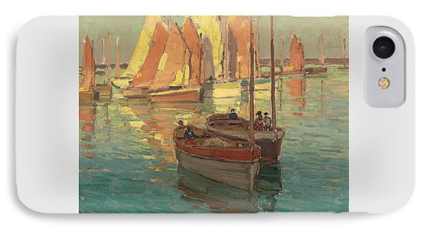 Fishing Boats In A Harbor IPhone Case