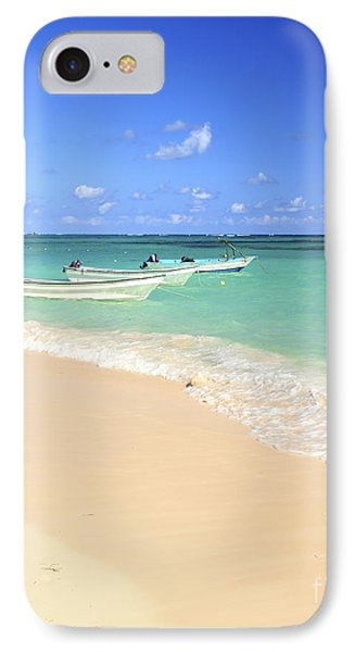 Fishing Boats In Caribbean Sea Phone Case by Elena Elisseeva