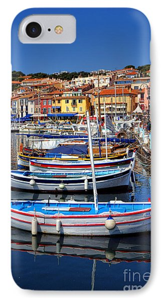 IPhone Case featuring the photograph Fishing Boats In Cassis by Olivier Le Queinec